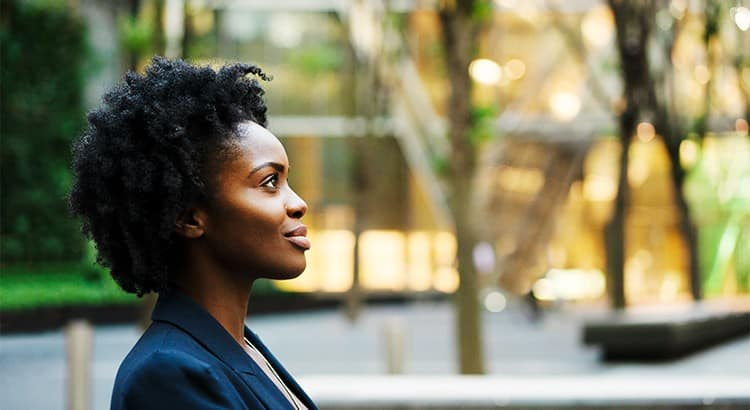 Lady Thinking About Real Estate Journey